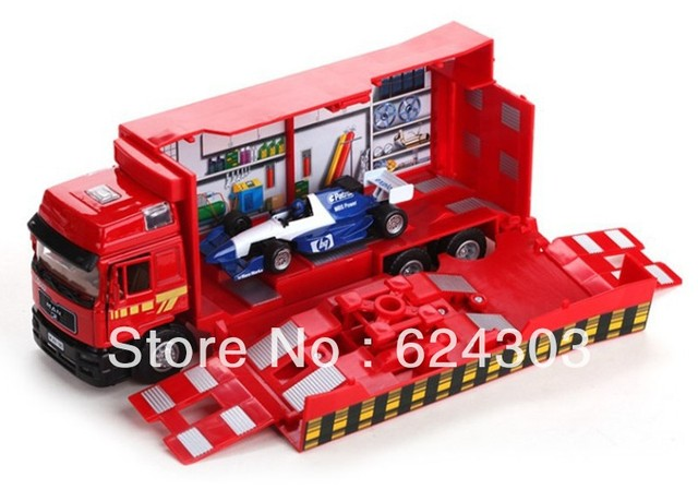 Free Shipping! 2013  newest !1:40 MAN 6 wheel F1 repair truck luxury gift box alloy car model