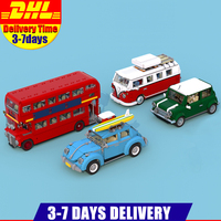 LEPIN Car Series 21001 Volkswagen T1 Camper Van 21002 MINI Cooper 21045 London Bus 21014 VW