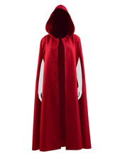 Handmaid Elisabeth Moss Cosplay Costume Red Cloak Gown Women Halloween Clock Coat