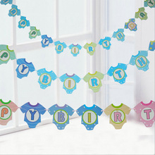 13PcsClothes Letter Garlands Supplies Babyshower Wreath Candy Bar Bunting Party Decor Slingers Wedding Happy Birthday Decoration все цены