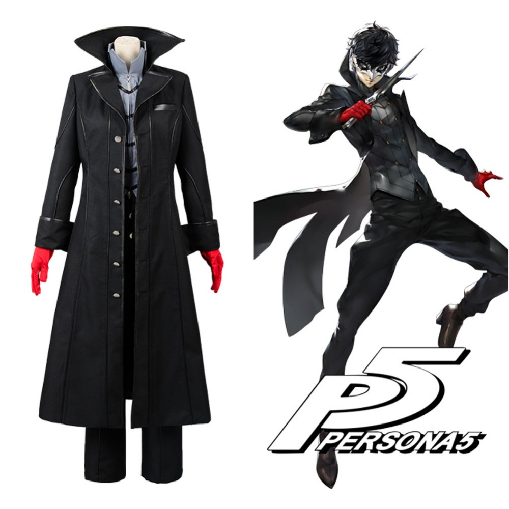 Persona 5 Cosplay P5 Joker Costume Jacket Ren Amamiya Full Set Akira Kurusu Uniform Outfit for Men Party Halloween image