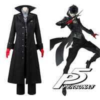 Persona 5 Cosplay P5 Joker traje chaqueta Ren Amamiya juego completo de uniforme de Kira Kurusu para hombres fiesta de Halloween