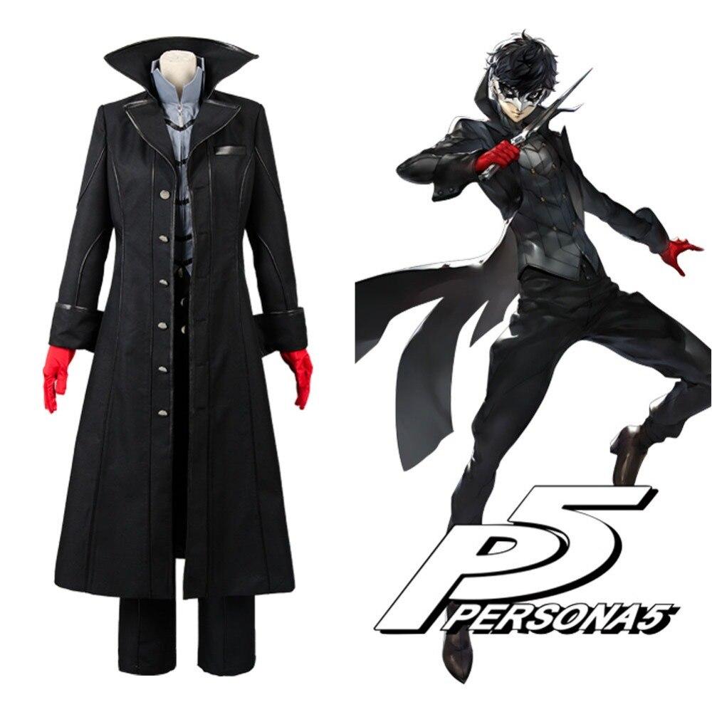 Persona 5 Cosplay P5 Joker Costume veste Ren Amamiya ensemble complet Akira Kurusu uniforme tenue pour hommes fête Halloween