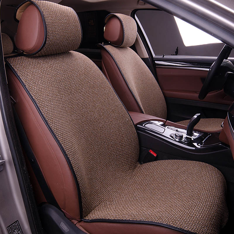 Yuzhe Linen car seat cover For Peugeot 205 206 207 2008 3008 301 306 307 308 405 406 407 car accessories styling cushion for peugeot 206 207 307 308 301 406 407 3008 new brand luxury soft pu leather car seat cover front