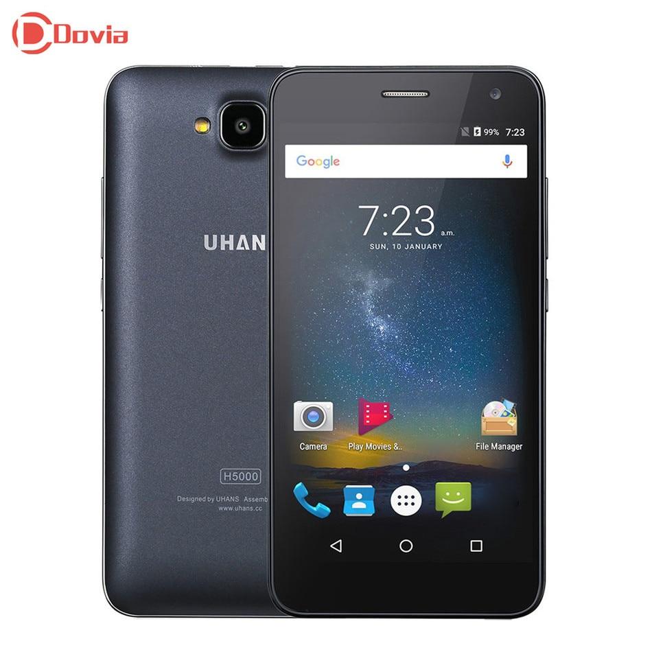 Uhans mtk6737 h5000 android 6.0 5.0 pulgadas 4g smartphone quad Core 3 GB RAM 32