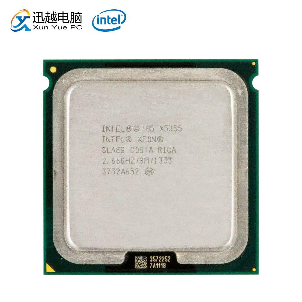 Intel Xeon Quad-Core X5355 Desktop Processador 2.66 GHz 8 MB FSB LGA 1333 771 5355 Servidor CPU Usado
