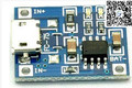 Envío libre de la original tp4056 1a batería de litio de 5 v 18650 junta módulo de placas de interfaz micro usb de carga