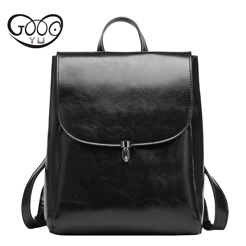Fashion Genuine Leather Backpack Women Bags Preppy Style Backpack Girls School Bags Zipper Kanken Leather Backpack Women Bag preppy style school bag women backpack shoulders female travel bags kanken high quality leather backpacks bolsas free shipping