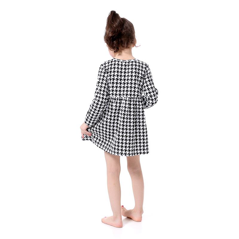 8cc747528533 New Girls Long Sleeve Houndstooth Girls Dress Boutique Clothing Fall ...