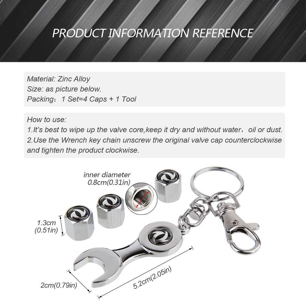 Accessori Per auto Stelo Della Valvola Della Rotella Della Gomma Protezioni Con Mini Chiave Keychain Per Dongfeng AX7 H30 S30 DFSK Fengshen DFM Citroen Nissan