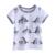 2017 New Arrival Meninos T-Shirt Verão Animais Padrões de Impressão Criança Encabeça Roupas Menino BT90413-28L