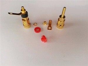 Image 5 - 50 PIÈCES mini En Laiton Plaqué Or Haut Parleur Terminal AMP Reliure À Ressort De Type Presse