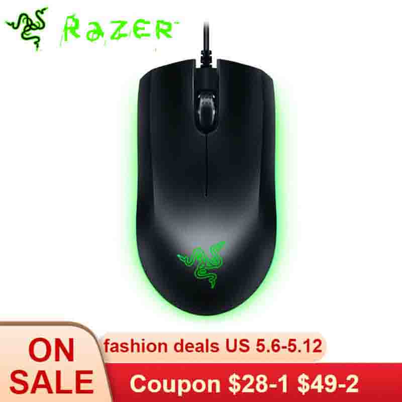 Razer Jugan souris de jeu filaire RGB Chroma Lighting 7200 DPI souris ambidextre capteur optique 3 boutons programmables indépendants