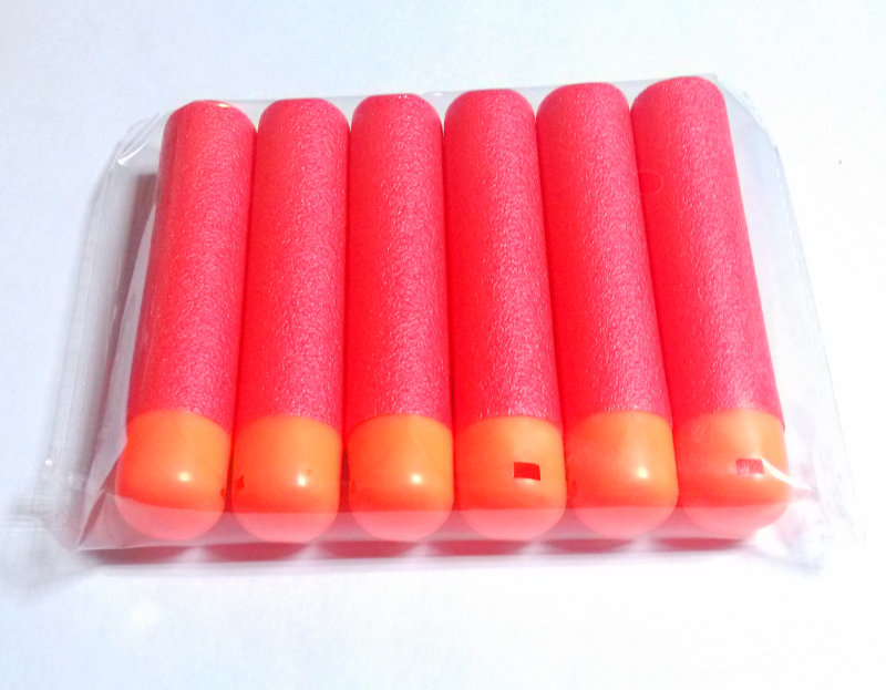 30Pcs 9.5x1.8cm Red Sniper Rifle Bullets Darts For Nerf Mega Kids Toy Gun Foam Refill Darts Big Hole Head Bullets Gift