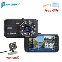 4 Inch IPS Dual Lens Car DVR 1080P Full HD Rear View Dash Camera With Night