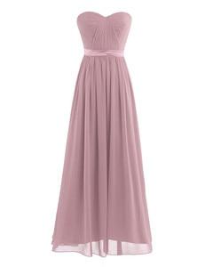 Image 3 - Dusty Rose Mooie Geplooide Hoge Taille Bruidsmeisje Jurk Elegante Prachtige Sexy Strapless Lange 2020 Nieuwe Collectie Wedding Party Dress