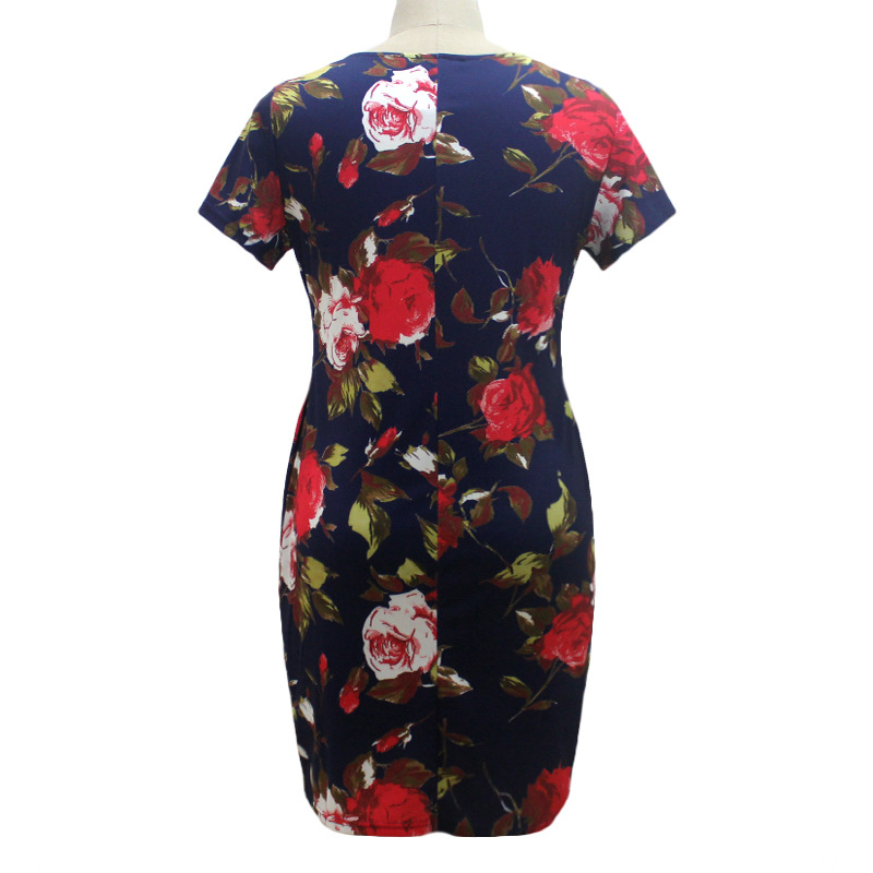 HTB1.niMXgvGK1JjSspiq6A96FXa5 2019 Autumn Plus Size Dress Europe Female Fashion Printing Large Sizes Pencil Midi Dress Women's Big Size Clothing 6XL Vestidos