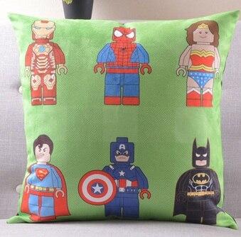 Америка супер герой Супермен Человек паук Железный человек чудо-подушка с изображением Женщины чехлы на диван сиденье бархатное покрытие для подушки наволочка - Цвет: H