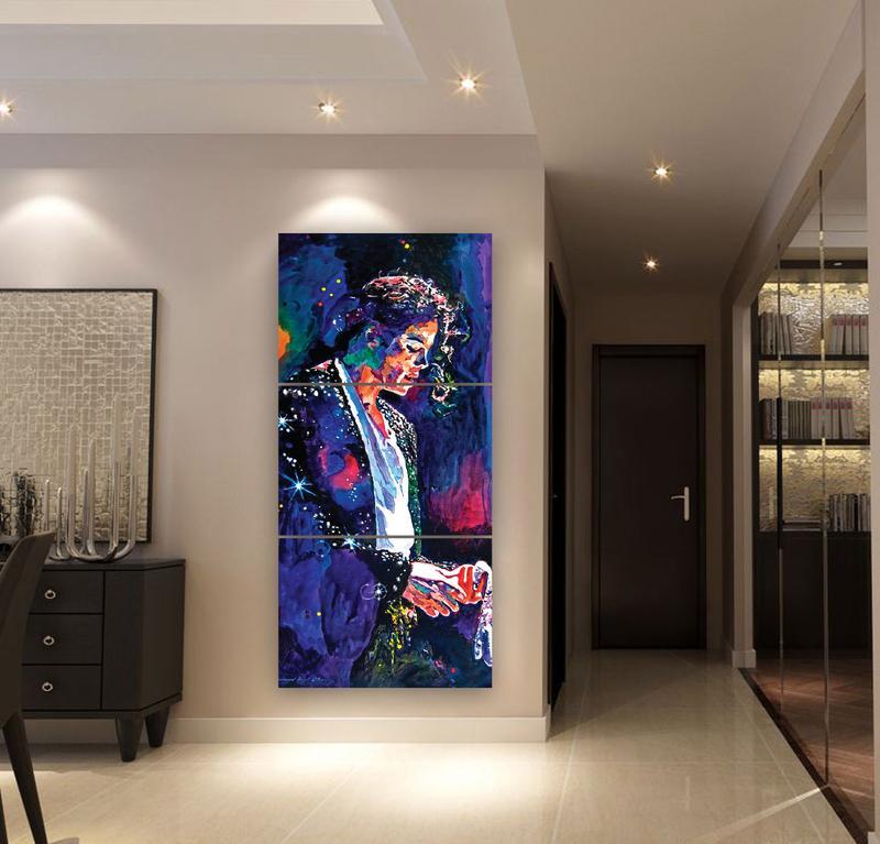 Mur de La Maison moderne Art Décoratif Cadre Abstrait Toile Affiche HD Imprimé 3 Pièce Michael Jackson Peinture Modulaire Photos