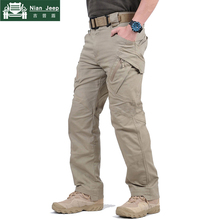 Brand IX9 Mens Tactical Pants Multi Pockets Cargo Pants Military Army