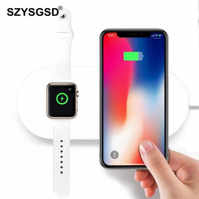 SZYSGSD Airpower Беспроводной Зарядное устройство для iPhone X XS 8 Беспроводной зарядного устройства для Apple watch Быстрая зарядка для Samsung Galaxy S9 S8