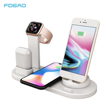FDGAO 3 in 1 Charging Dock Station For Apple Watch Airpods Fast Charging Stand Wireless Charger For iphone X XS MAX XR 8 Plus fdgao 3 in 1 charging dock station stand for airpods apple watch 10w fast qi wireless charger for iphone x xs max xr 8 7 6 plus