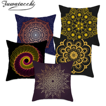 Fuwatacchi Datura Cushion Cover Pattern Decoration for Chair Throw Pillow Covers Car Pillowcases 45cmX45cm