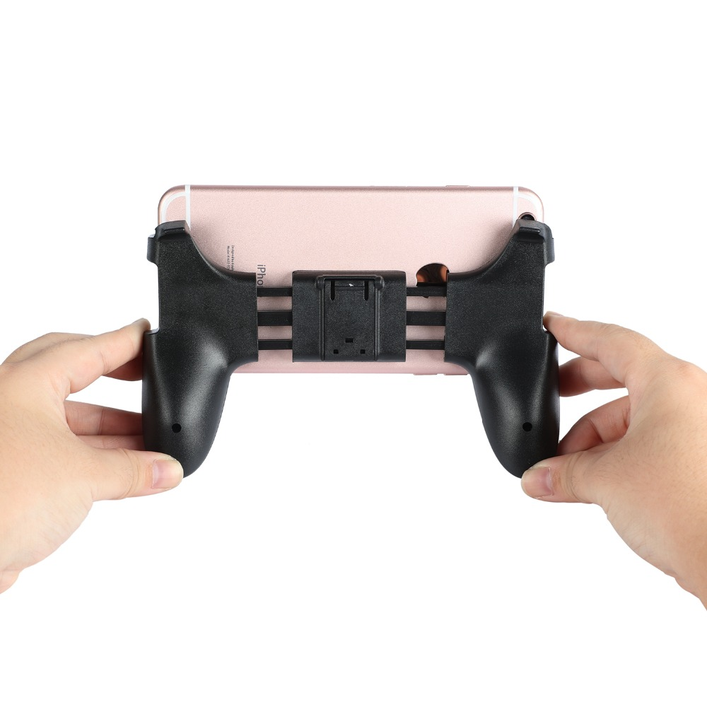 Image 4 - Universal Mobile Phone Game Controller Phone Gaming Trigger For PUBG Joystick Handle Controller Holder For iPhone Android-in Gamepads from Consumer Electronics