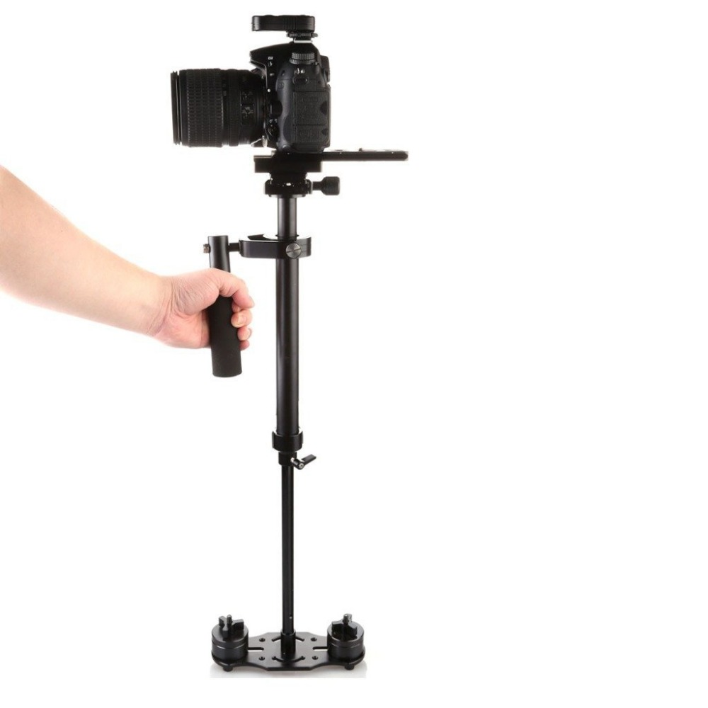 New S60+ 60cm Mini Handheld Stabilizer Steadycam Steadicam for GoPro AEE Canon Nikon DSLR Camera DSLR DV dhl new s40 0 4m 40cm handheld steadycam stabilizer for steadicam canon nikon sony gopro aee dslr camcorder dv video camera