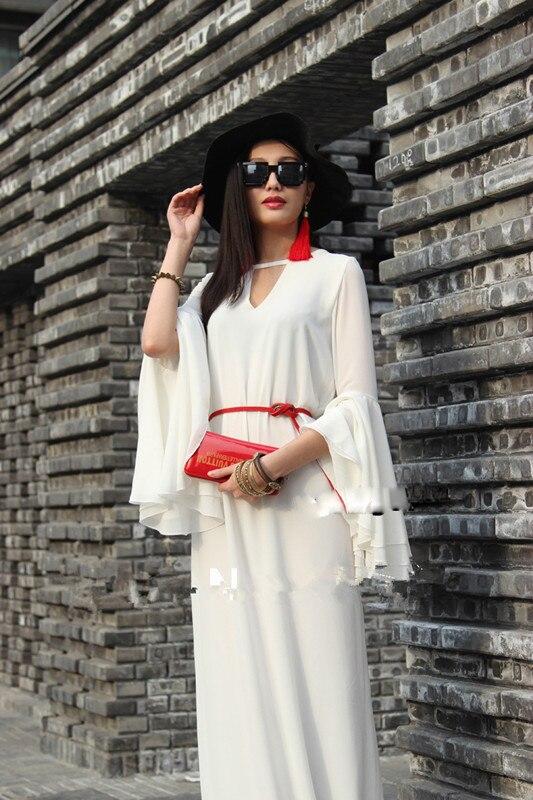 WBCTW 2018 Summer Autumn Czech 7XL Plus Size Back Sides Party Floor Length Shirt Beach Dress With Long Sleeve Maxi Dresses