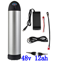 48V 12Ah Kettle Water Bottle lithium battery e bike Li ion Battery Ebike battery for electric bicycle with15A BMS and 2A charger