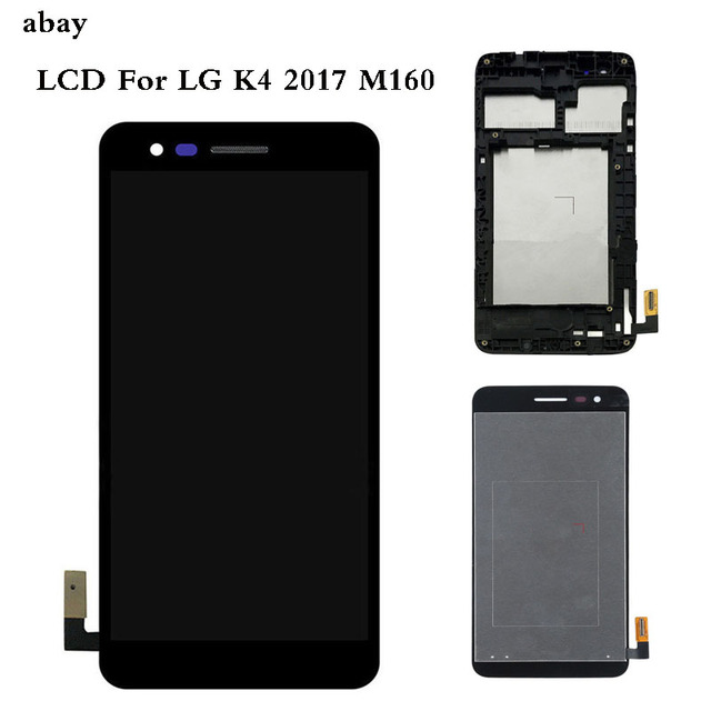 5.0 For LG K4 2017 M160 M150 M151 M160e LCD Display Screen With Touch Screen Digitizer Assembly with Bezel Frame Repair Parts