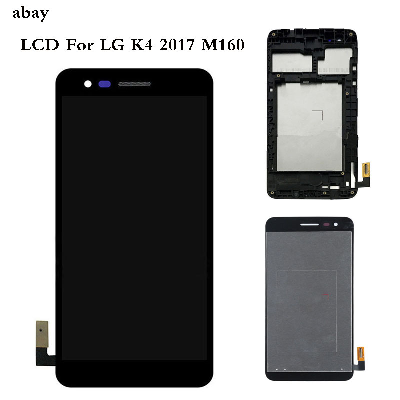 5.0'' For <font><b>LG</b></font> K4 2017 <font><b>M160</b></font> M150 M151 M160e <font><b>LCD</b></font> Display Screen With Touch Screen Digitizer Assembly with Bezel Frame Repair Parts image