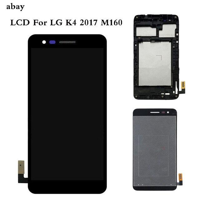 5.0 עבור LG K4 2017 M160 M150 M151 M160e LCD תצוגת מסך עם מסך מגע Digitizer עצרת עם לוח מסגרת תיקון חלקים