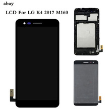 Pantalla LCD de 5,0 pulgadas para LG K4 2017 M160 M150 M151 M160e con montaje de digitalizador con pantalla táctil con bisel, piezas de reparación de Marcos