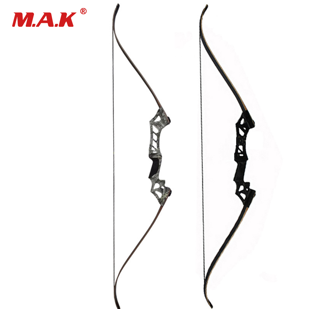 2 Color 60 Inches Black/Camo 30-70 Lbs Recurve Bow for Right Hand Archery Bow Shooting Hunting Outing Sport Games Practice