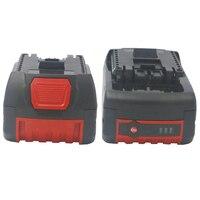 2 baterias bat609 dos pces x 18v 5000/4000ah para a bateria do li-íon de bosch para a broca 17618 bat618g bat618 bat609g de bosch com luz conduzida