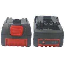 цена на 2pcsX18v 5000/4000Ah Batteries Bat609 for Bosch Li-ion battery for Bosch Drill 17618 BAT618G BAT618 BAT609G with led light
