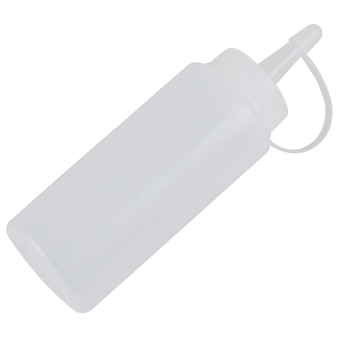 Plastic Clear 1000ml Squeeze Bottle Condiment Dispenser Ketchup Mustard Sauce