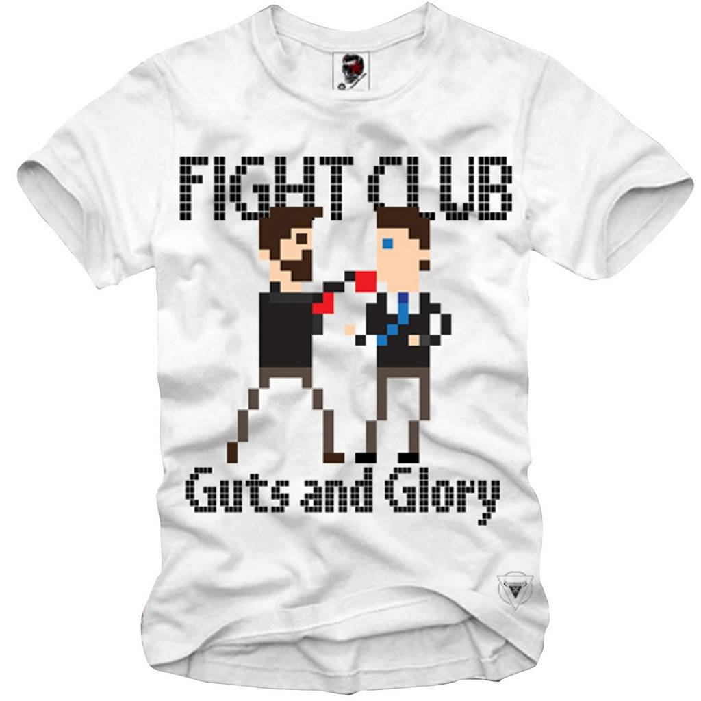 E1SYNDICATE T-Shirt Fight Club Pixel 8BIT Gamer Retro Boxinger S-3XL T-Shirt Summer Novelty Cartoon T Shirt Top Tee Plus Size image