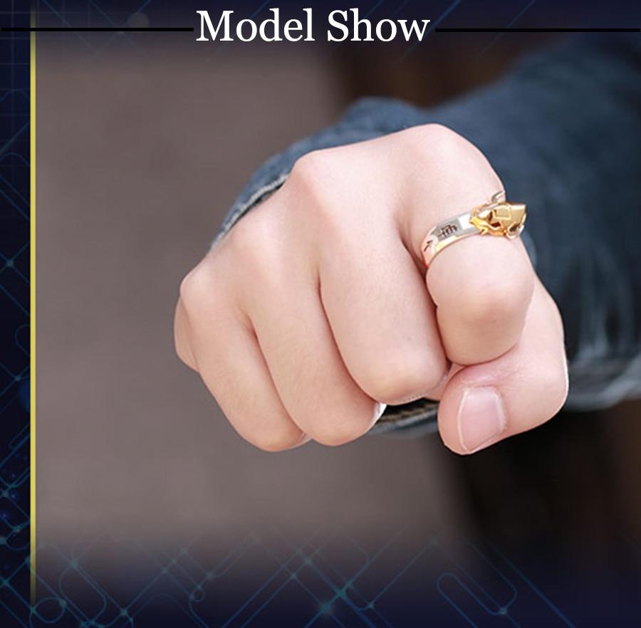 Quality Digimon Adventure WarGreymon Omegamon 925 Silver Ring Adjustable 15th Anniversary Rings Adjustable for Boyfriend Gift