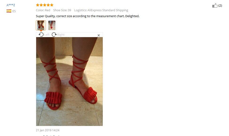 HTB1.nkHbdfvK1RjSszhq6AcGFXaZ Plus Size Women's Sandal Ruffles Shoes Woman Cross Bandage Sandals Summer Shoes Flats Lace-up Ankle Strap Sandalias Mujer 2018