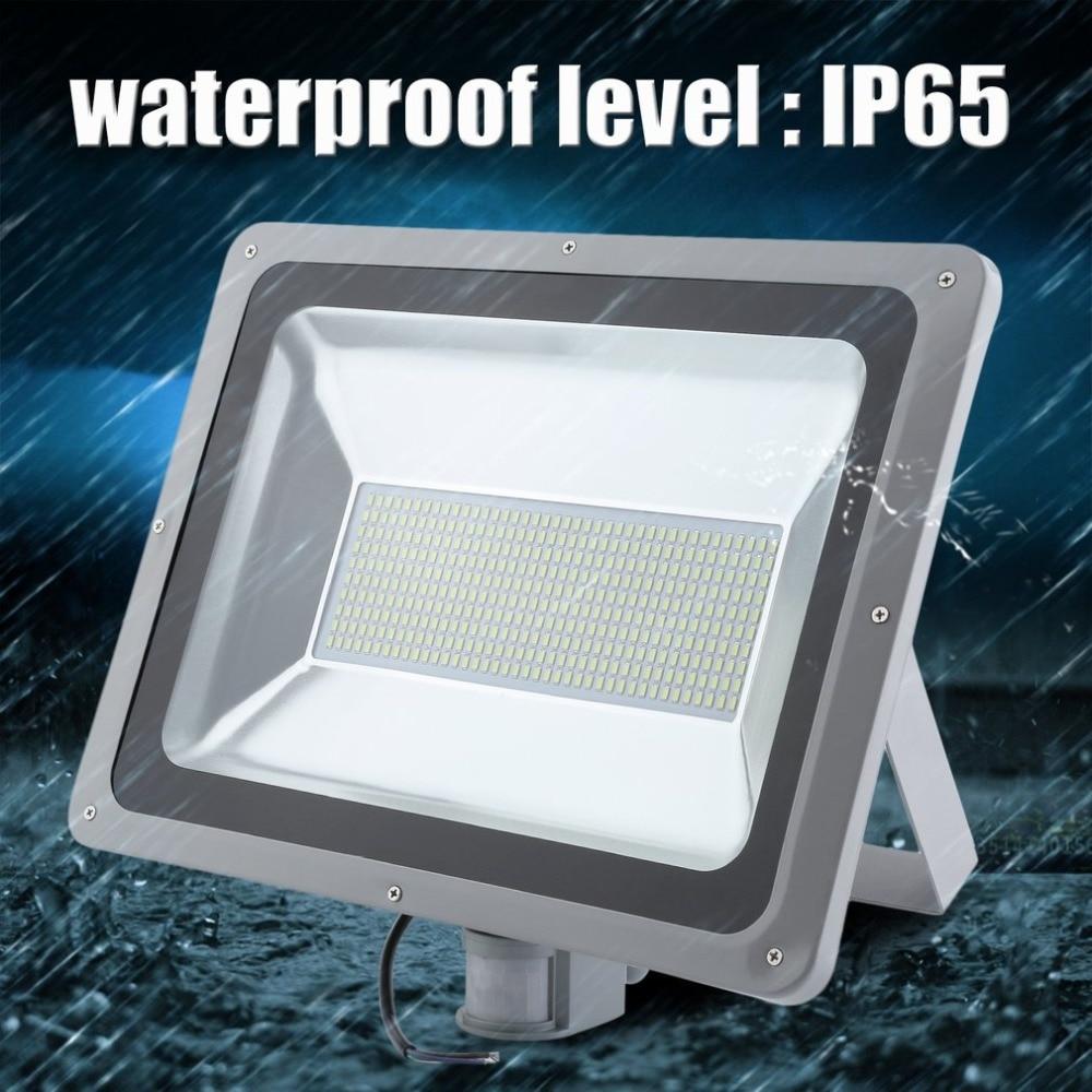200W Landscape Garden Light Motion Activated LED Floodlight PIR Sensor Security Flood Lamp Waterproof Induction White/Warm white