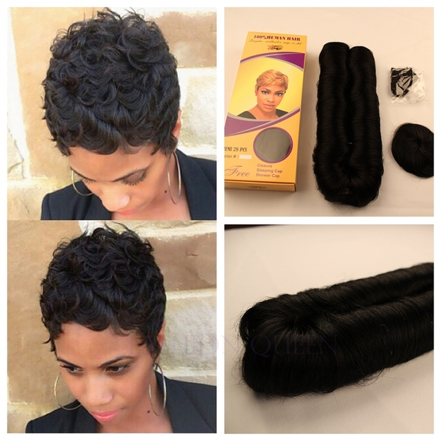 1PC+Fast Shipping Remy Short Weave Hair 27pcs Bump Short - 27 Piece Quick Weave Hairstyles
