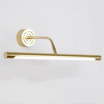 Moderna Semplice Europea Oro Lampada Da Parete A Led Per Mobiletto Del Bagno Impermeabile Anti Fog Luce Dello Specchio Di Modo 41/51/ 61/71 Centimetri