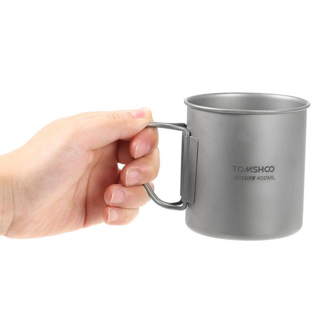 Titanium Camping Mug with Lid