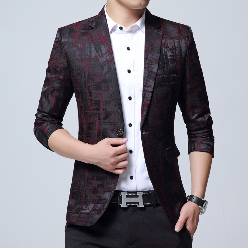 2020 Autumn Leisure Blazer Young Men Cultivate One's Morality Youth Popular Youth Small Blazer