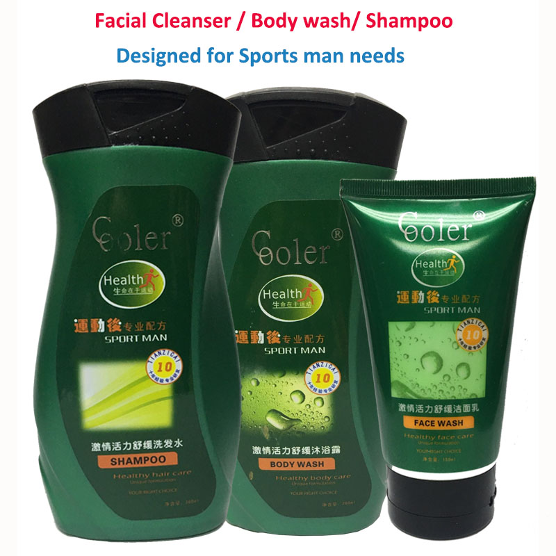 Shampoo & Body Wash & Facial Cleanser Beauty Care Sets Refreshing Oil Control Ice Cool Skin Treatment Products kustie body care body wash nature floral petals rose shower