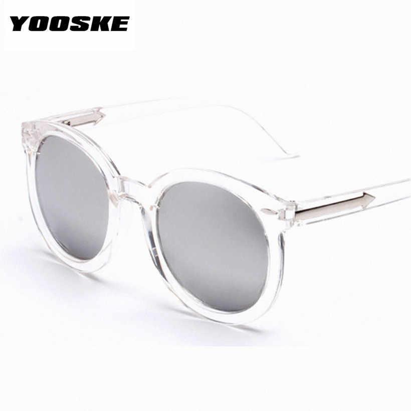 bd87fd008e729 ... YOOSKE Oversized Pink Mirrored Vintage Women Sunglasses Brand Retro  Female Sun Glasses Cat Eye Women s Glasses ...