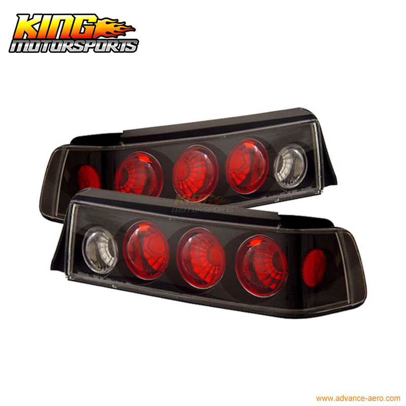 for 2005 2007 06 chrysler 300 300c led tail lights black lamps usa domestic free shipping For 1988-1991 Honda Civic 3Dr Hatchback Tail Lights 3PCS Black USA Domestic Free Shipping